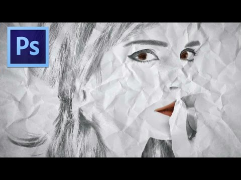 Crumpled paper drawing - Photoshop tutorial