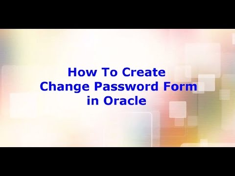 Changing password in oracle form