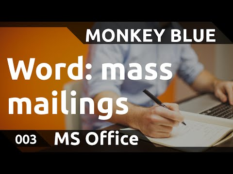 Word: how to use mass mailings for letters to many recipients
