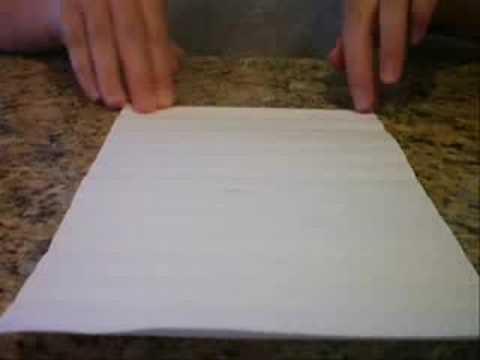 How to make the Origami Magic Ball Step 1