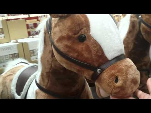 Costco 39 Inch Giant Plush Horse - Quick Review It WHINES! LOL! $69!!!