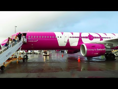 TRIP REPORT | WOW Air (Economy) | Berlin SXF to Reykjavik KEF | Full Experience | Airbus A321SL