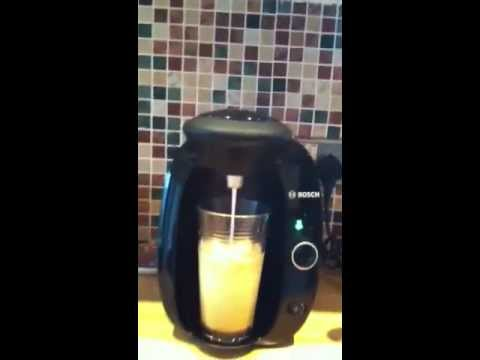 How to make a latte with Tassimo T20 Coffee Machine