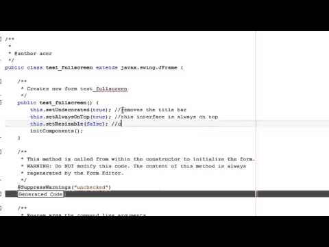 How to set a JFrame Fullscreen