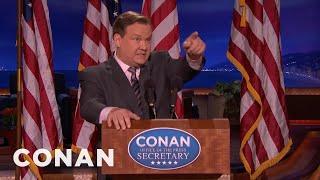 Andy Returns As Conan's Sean Spicer  - CONAN on TBS