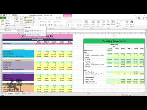 Advanced excel tutorial create live floating photo in excel sheet