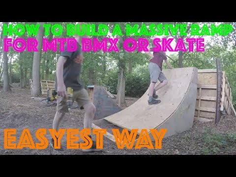 HOW TO BUILD A MASSIVE WOOD JUMP FOR MTB BMX OR SKATE