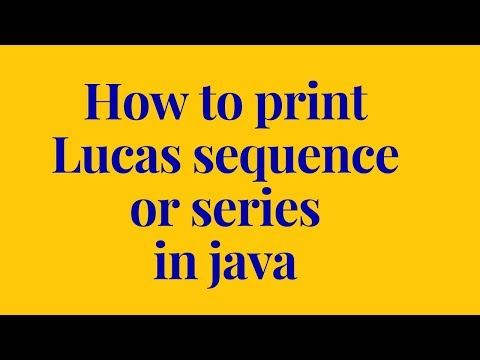 how to print lucas sequence in java