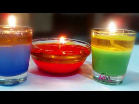 How to Make a Candle at Home:How to Make Floating Candles ,Beautiful Water Candles