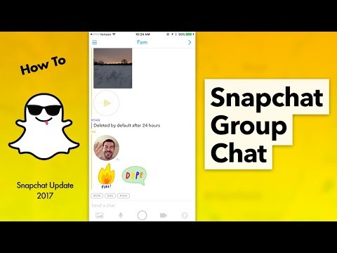 How to use Group Chat in Snapchat