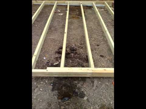 How to DIY build a backyard shed base DO it yourself!