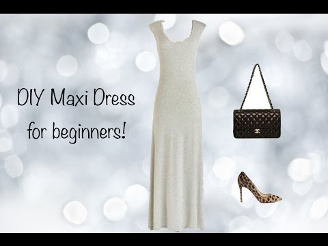 DIY Maxi Dress, Sewing project for beginners