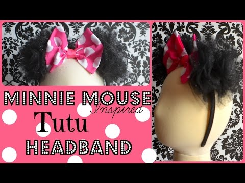 Minnie Mouse Tutu Ears Headband