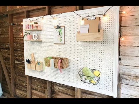 How to Paint and Frame Pegboard