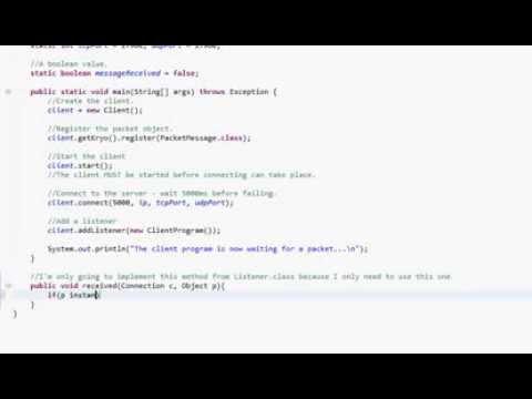 Java KryoNet :: A Simple Server/Client Program