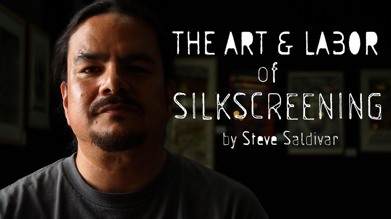 Dewey Tafoya Silkscreening Workshop at Self Help Graphics in East Los Angeles