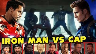 Download Reactors Reaction To Iron Man Vs Both Captain America & Bucky | Captain America Civil War Video