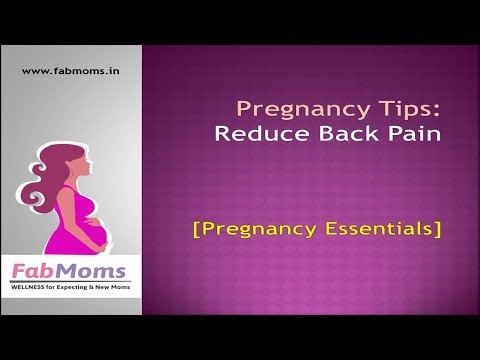 Pregnancy  Tips to Reduce Back Pain