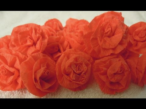 How to make easy Paper streamer Roses tutorial