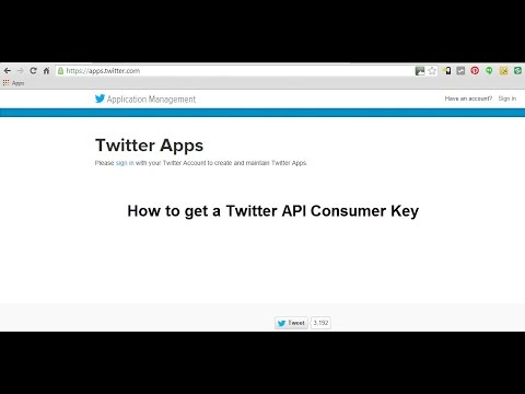 How to get a Twitter API Consumer Key
