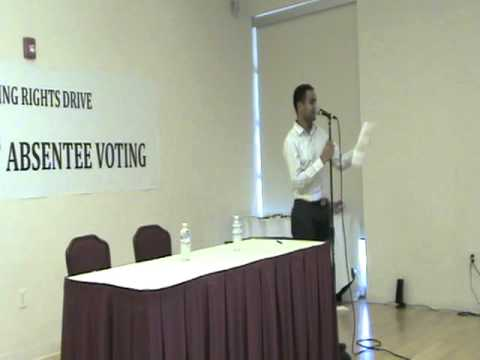 Drive for NRI Absentee Voting Rights - ICC California Nov 01, 2010 - Part 1