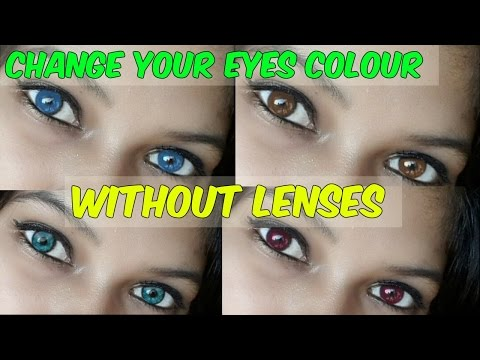 Change your eyes colour without buying lenses / Namrata singh