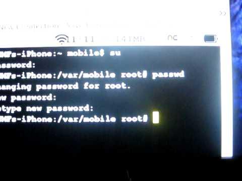 Root / Mobile Password/ How to change password
