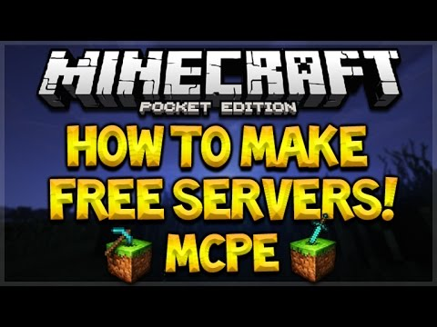 HOW TO CREATE A FREE MCPE SERVER - Minecraft Pocket Edition 0.16.1+ Free Server Tutorial