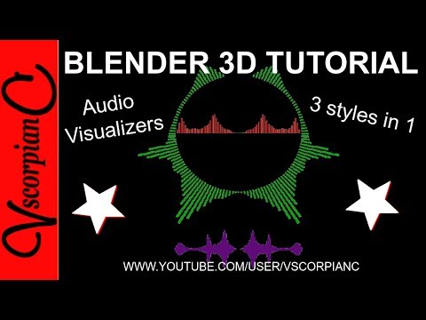 Blender 3d Tutorial - How to Make & Mix Multi Audio Visualizer Types by VscorpianC