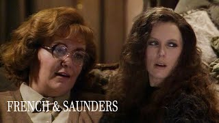 Christmas TV With Interrupting Mother | French & Saunders: Christmas Special '88 | BBC Comedy Greats