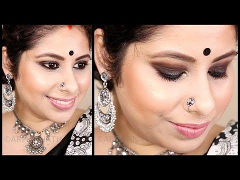 Easy Dark Black Smokey Eyes    Indian Makeup Tutorial