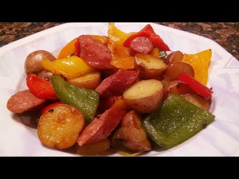 How to make Kielbasa with Peppers, Onions and Potatoes