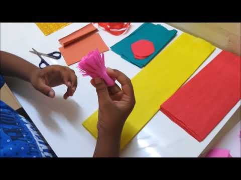 How to make easy only Paper Garland- Part 1  for kids