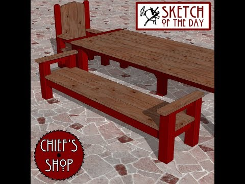 Chief's Shop Sketch of the Day: Banquet Bench