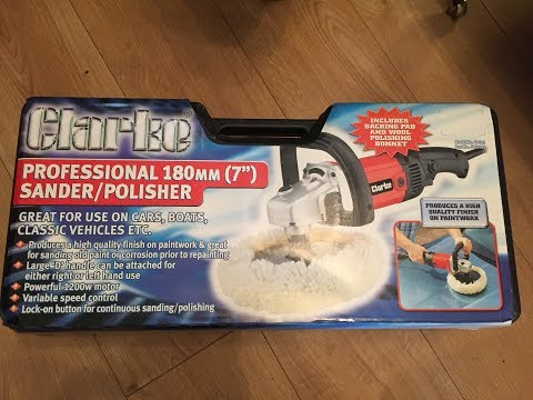 Machine Mart Clarke professional 180mm 7 inch sander and polisher unboxing and review