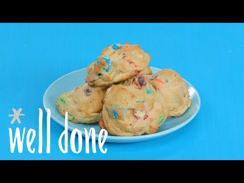 How To Make M&M Drop Cookies | Recipe | Well Done