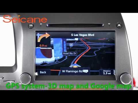 Newest 2006-2011 Honda CIVIC Left aftermarket car bluetooth radio dvd player gps navigation with USB