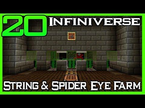 'String & Spider Eye Farm' [20] Minecraft Bedrock Infiniverse