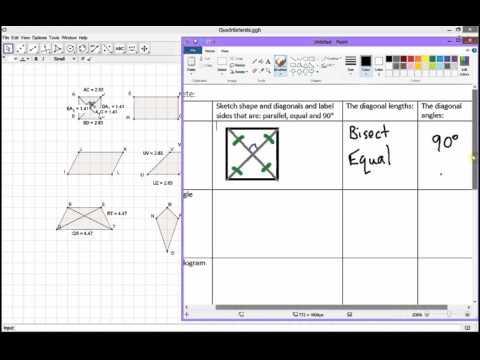 7.3 Diagonals of Quadrilaterals