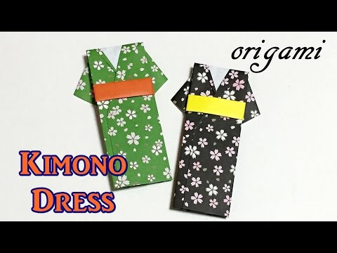 Easy origami craft : How to make a paper Kimono dress | tutorial for beginners
