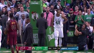 JR Smith shoves Al Horford in mid-air - scary fall! JR gets Flagrant 1