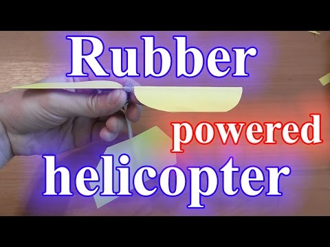 Rubberband powered helicopter DIY
