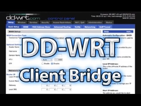 DD-WRT Client Bridge Setup