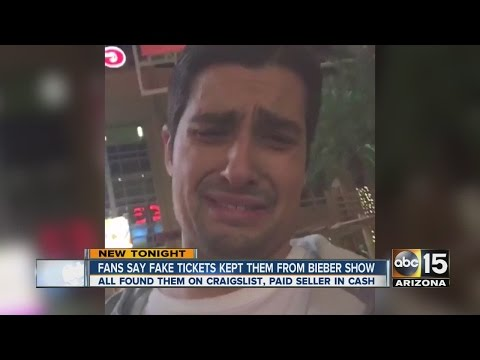 Fans say fake tickets kept them from Bieber show