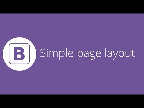Bootstrap tutorial 22 - Creating a simple page layout (final video)