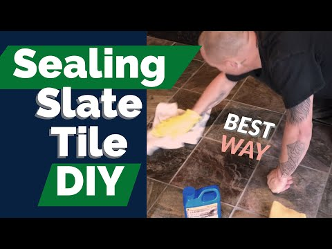 Sealing Slate Tile Flooring DIY | BEST WAY to apply sealer 101