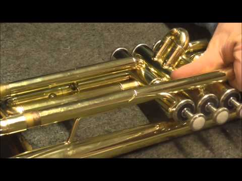 How To Free Up A Main Tuning Slide On A Trumpet Part 1
