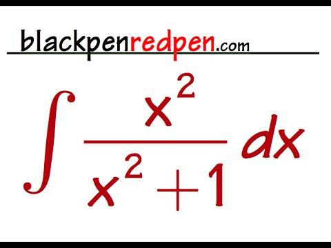 Integral of x^2/(1+x^2)