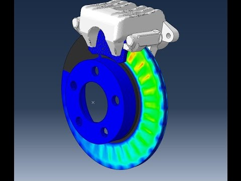 Abaqus Coupled temperature-displacement tutorial Brake disc VW Golf IV I/III