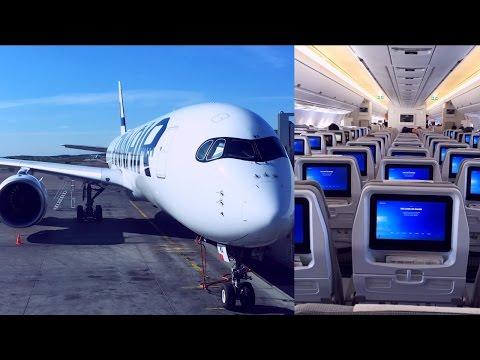 Empty Finnair Airbus A350-900 Helsinki - London Heathrow (OH-LWB)